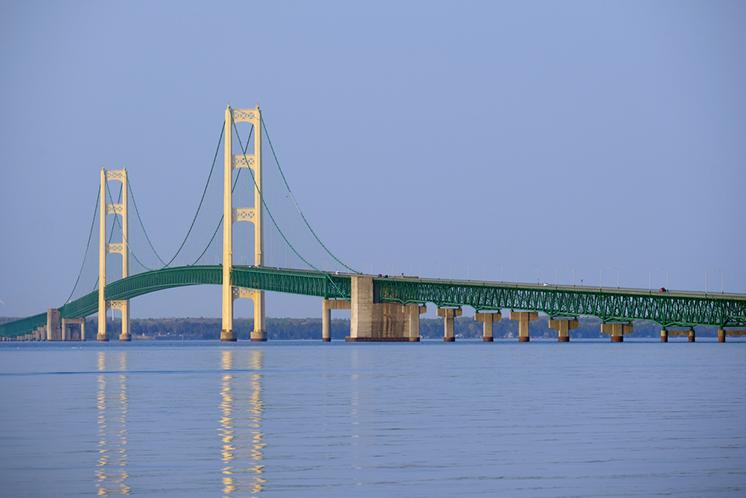 Michigan State professor to put sensors on Mackinac Bridge