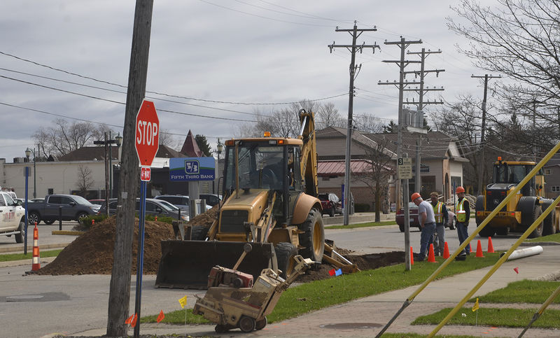 Downtown work continues as new sewers add to improvements