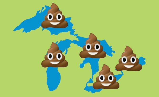 The Great Lakes are being poisoned by poop