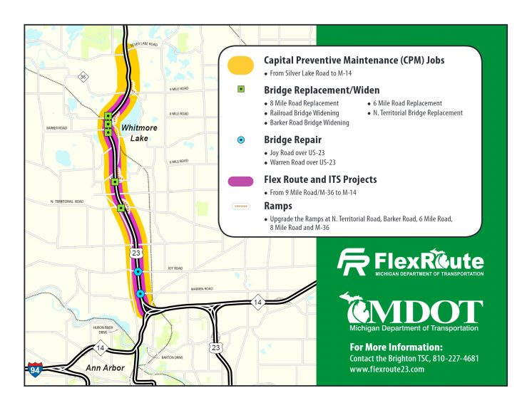 Michigan opens flex route on US 23 to ease traffic congestion