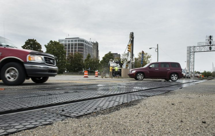 E. Michigan Avenue not ready to reopen at downtown railroad crossing