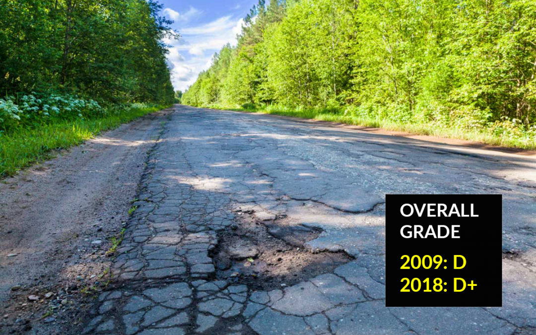 Michigan's 2018 infrastructure report card: D+