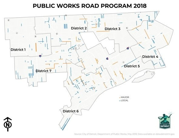 $58M project to repair 88 miles of Detroit roads underway