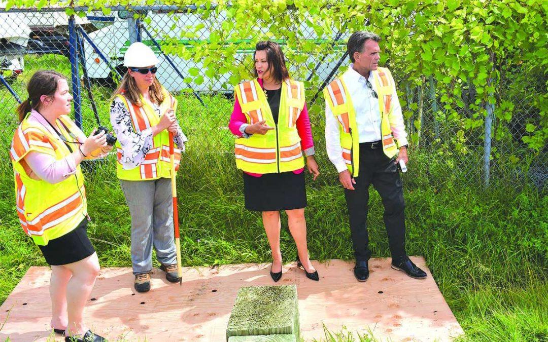 Governor visits crumbling Harrison Township bridge