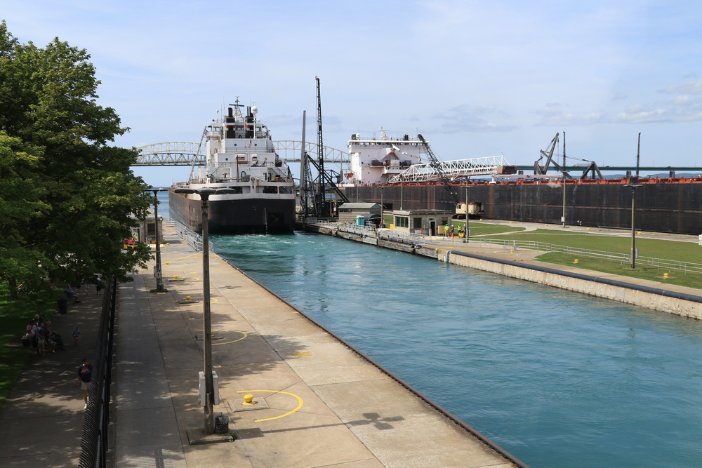 Whitmer visits Soo Locks, talks infrastructure improvements