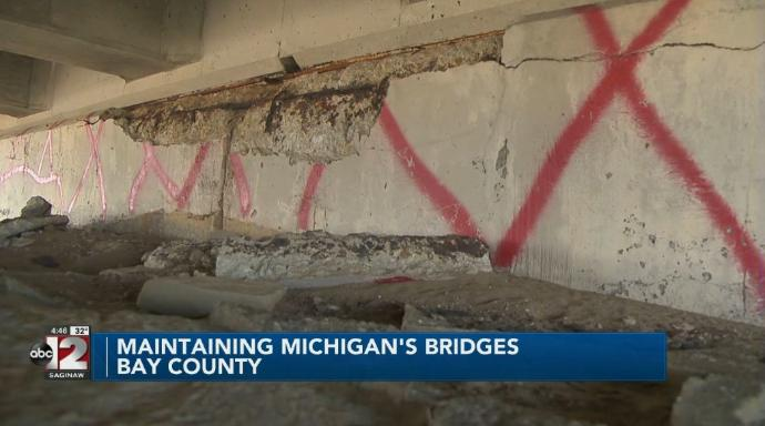 Woman hit by falling concrete from U.S. 127 bridge highlights infrastructure concerns