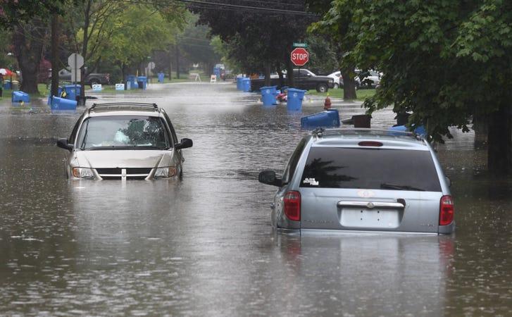 'It's happening again': Floods soak Metro Detroit homes, roadways